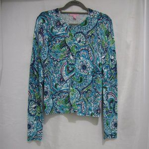 Lilly Pulitzer S Conservatory Peacock Cardigan